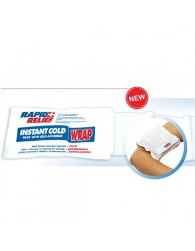 Bolsa de frío instantáneo con cinta elástica autoadhesiva