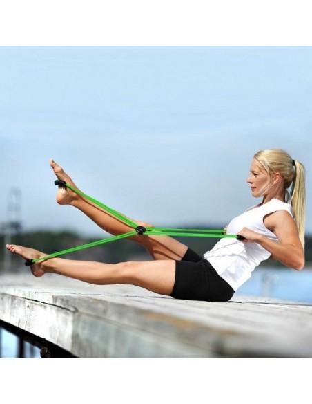 Sissel Pilates Core Trainer,Diseñado para fortalecer los músculos centrales del torso, brazos y piernas
