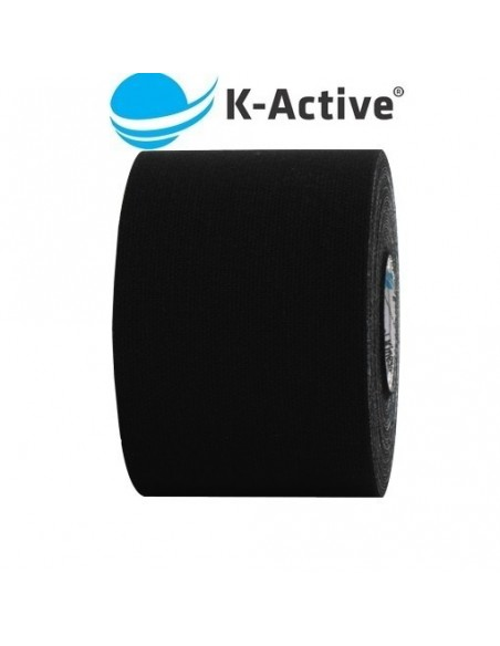 Kinesio K-ACTIVE 5cmx5m. vendaje neuromuscular negro