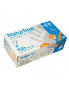 Guantes de Nitrilo no estéril sin polvo color azul 100 unds.