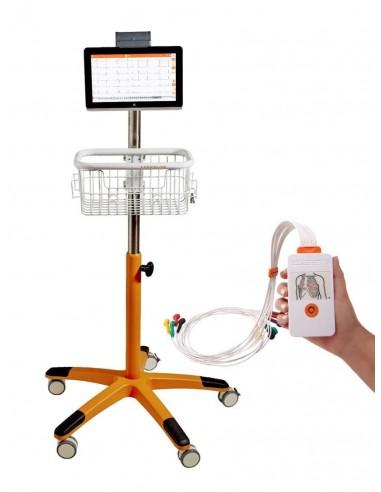 Electrocardiógrafo Cardioline TouchECG HD+ con Tablet y carro