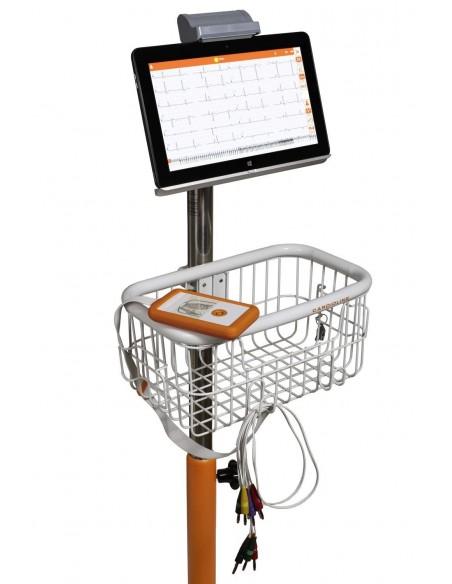 Electrocardiógrafo Cardioline TouchECG HD+ con Tablet y carro 1