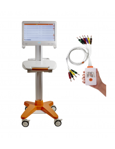 Electrocardiógrafo Cardioline TouchECG HD+ Digital System con PC All-in-One y carro