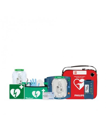 desfibrilador Philips Heartstart HS1 DESA con bolsa + accesorios