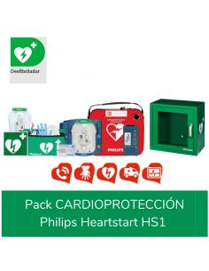desfibrilador Philips Heartstart HS1, pack para la cardioproteccion