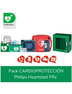 Desfibrilador Philips Heartstart FRx, con pack de cardioproteccion.vitrina y accesorios