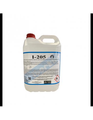 gel hidroalcohólico I-205 garrafa de 5 litros. Desinfectante de manos
