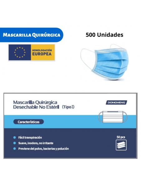 Mascarillas Quirúrgicas 500 unidades, 10 cajas