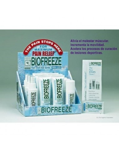 Gel Biofreeze 12 unds. con expositor